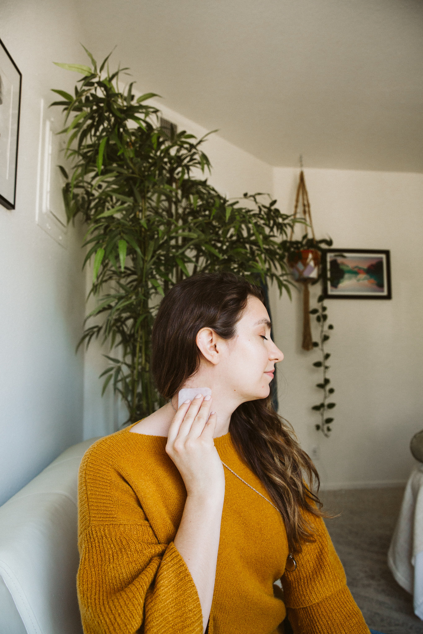 When treating the skin, it's important to connect to the neck -