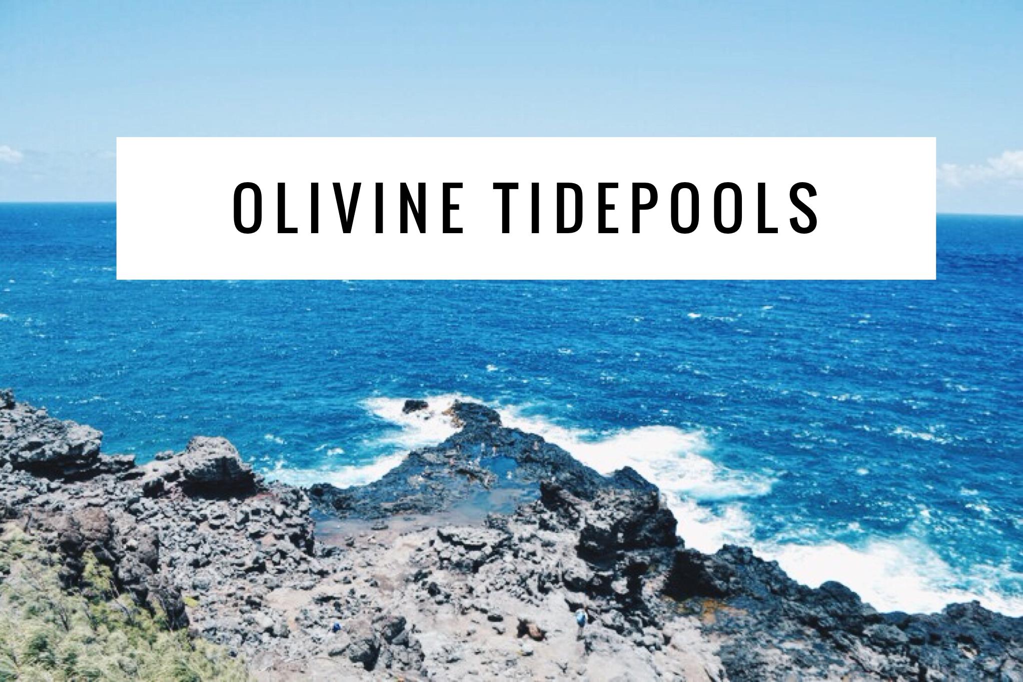 Olivine TidePools + SaltWaterVibes