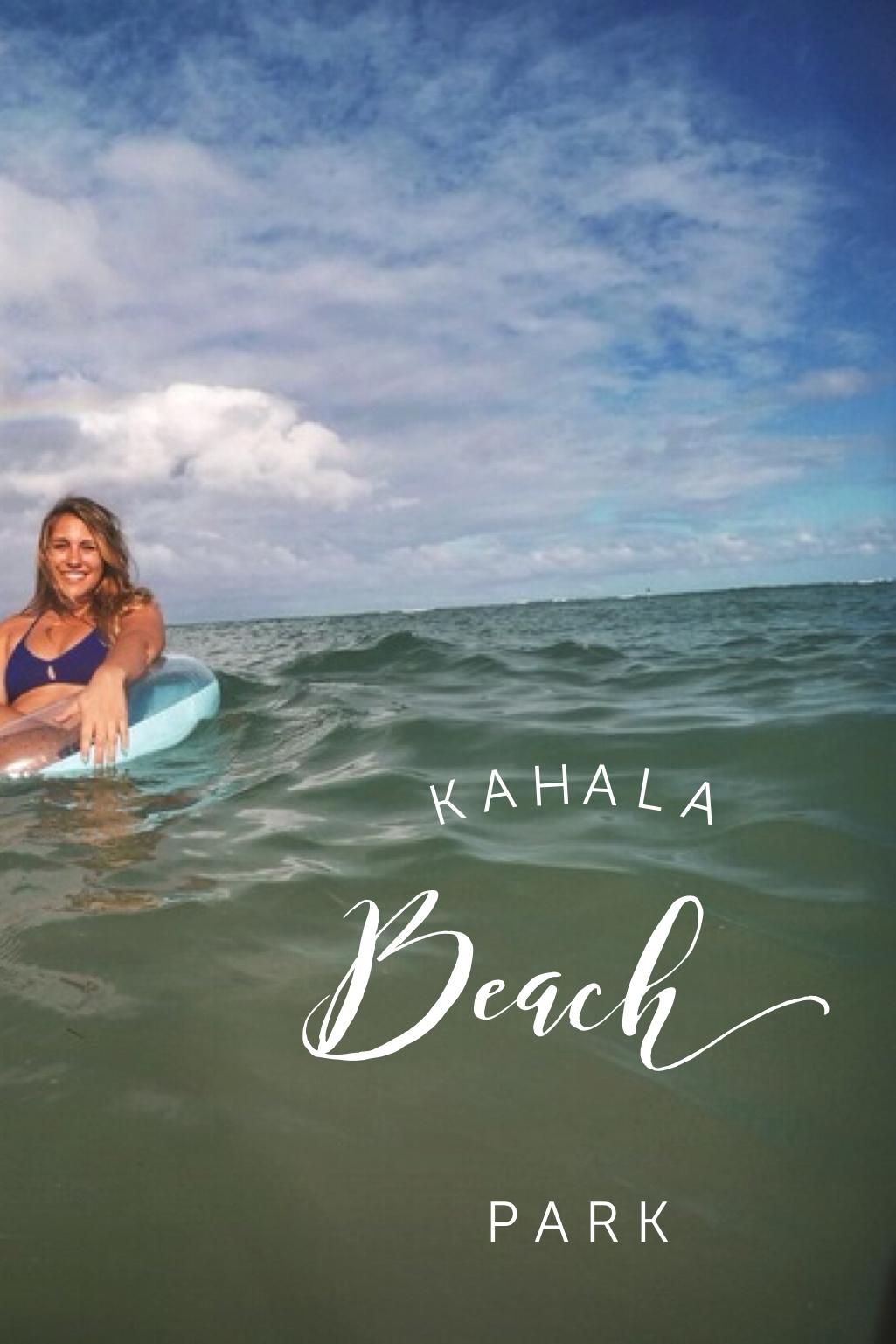 Kahala Beach Park + Salt Water Vibes