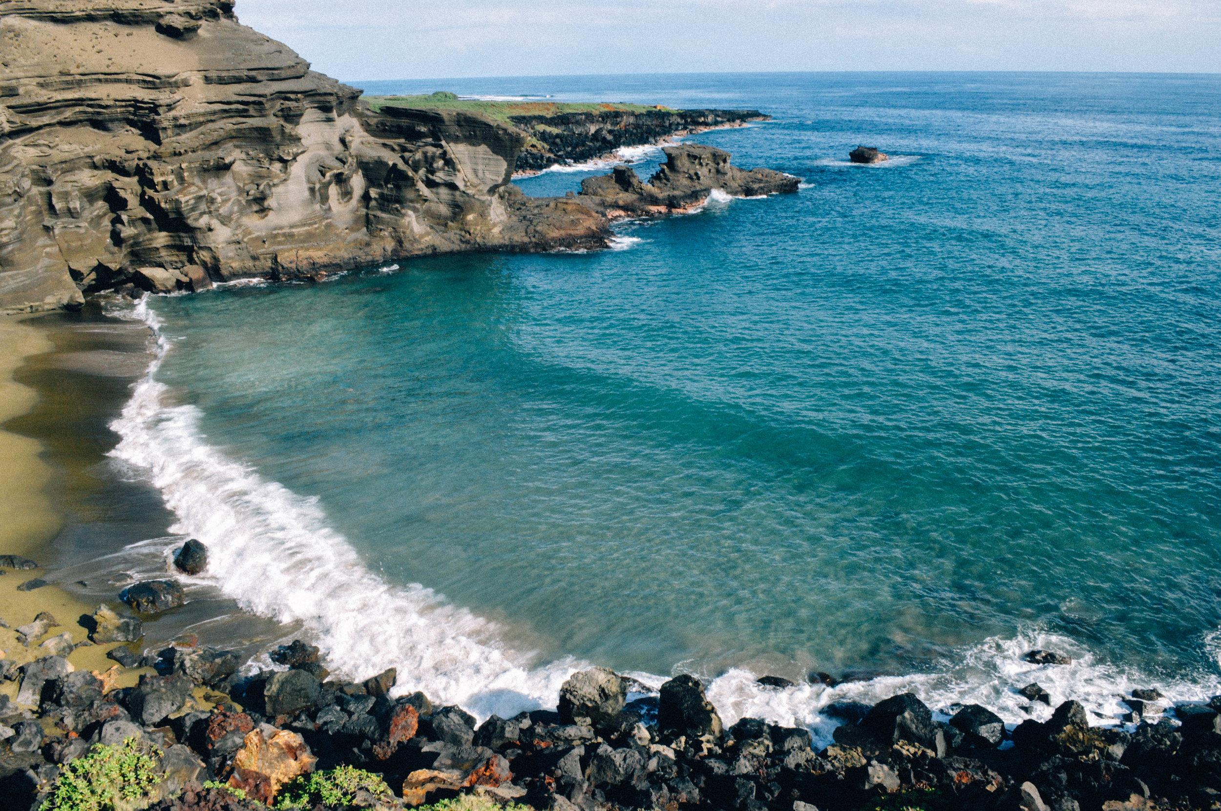 Green Sand Beach on Big Island Hawaii + SaltWaterVibes
