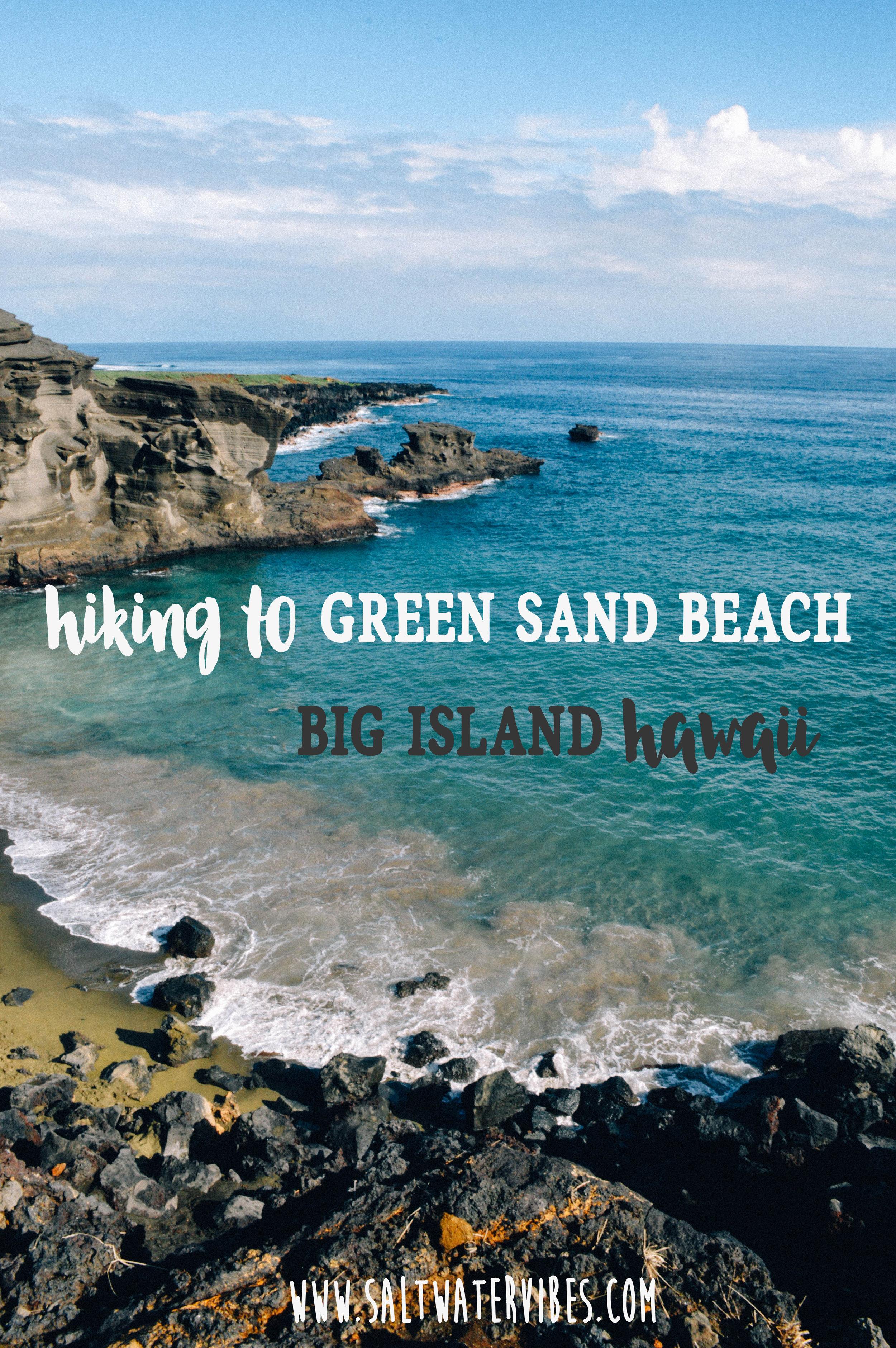 Green Sand Beach + SaltWaterVibes