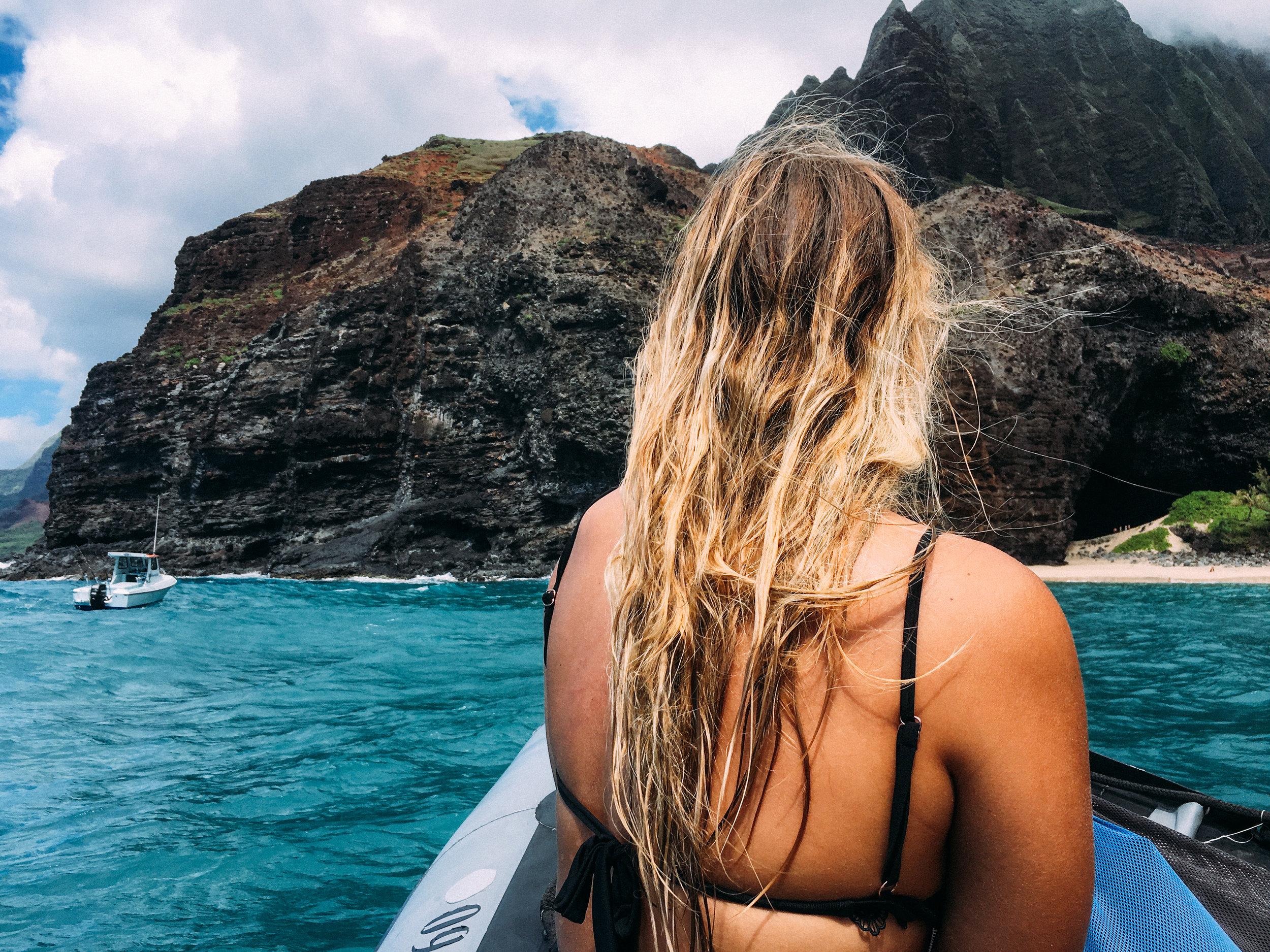 Na Pali Coast, Blue Ocean Adventures, Blue Ocean Adventure Tour, Boat Tour, Na Pali Boat Tour, SaltWaterVibes, Kauai, Hawaii Adventures