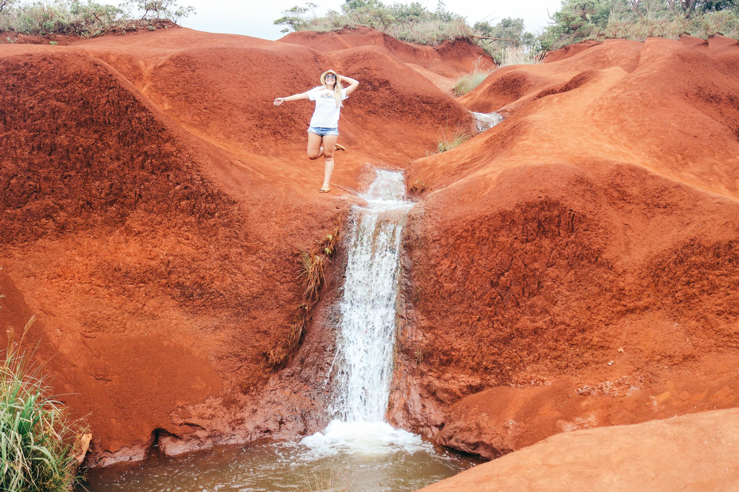 Waimea Canyon, Kauai, Hawaii Adventures, SaltWaterVibes, Red Dirt Waterfall, Kauai Waterfalls, Hawaii