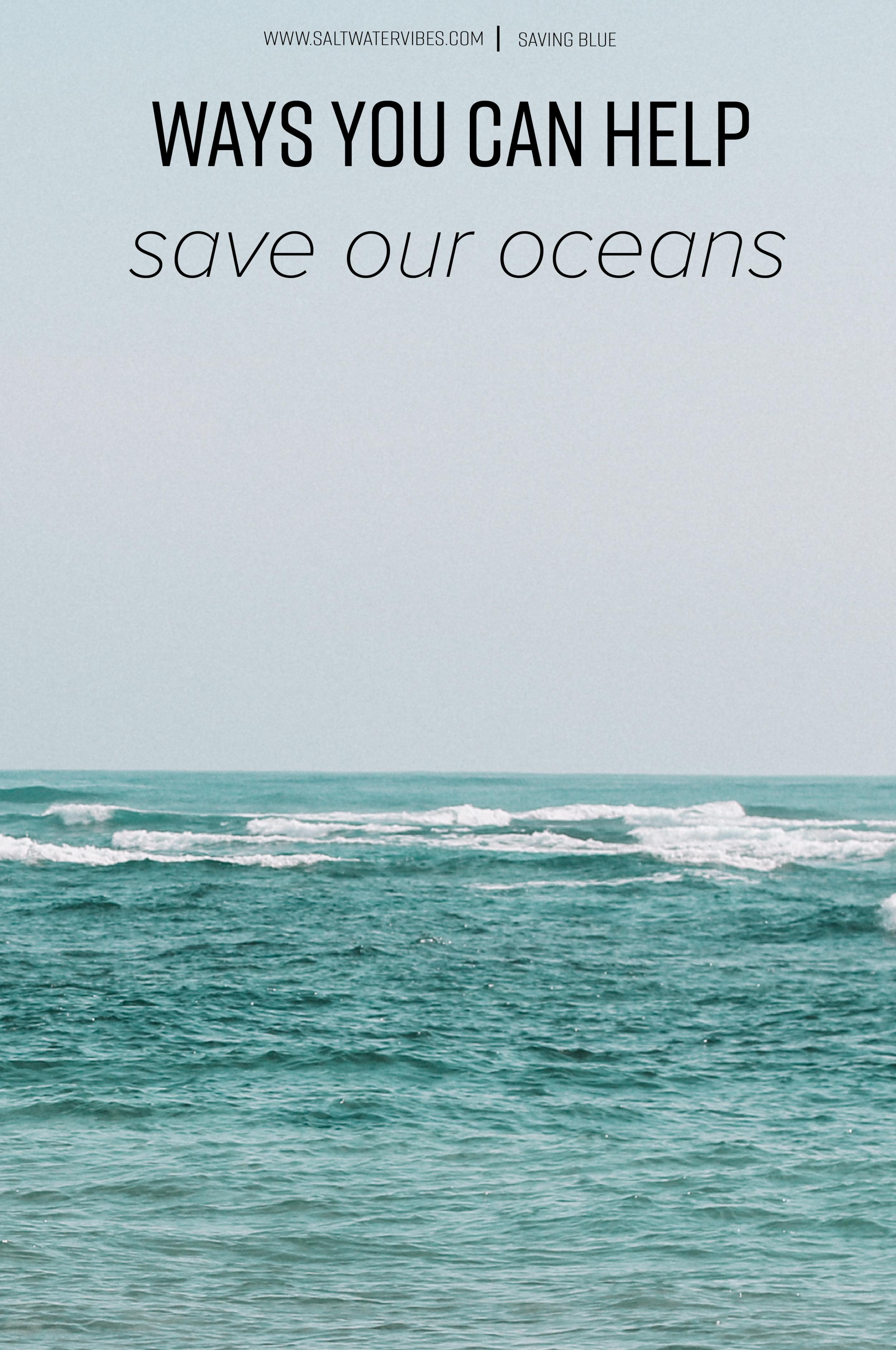 Change: Plastic Oceans + SaltWaterVibes