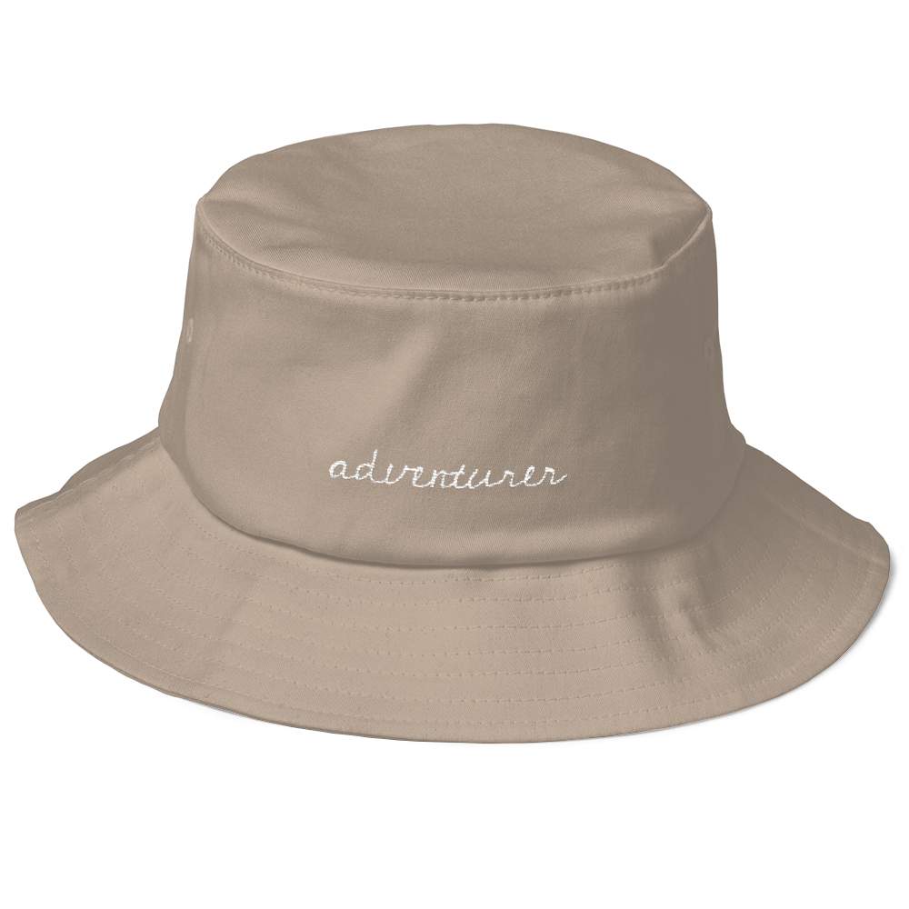 Adventurer Bucket Hat - This stylish but simple 'Adventurer' bucket hat is an one size fits al hat. It is the perfect accessory to any adventure!