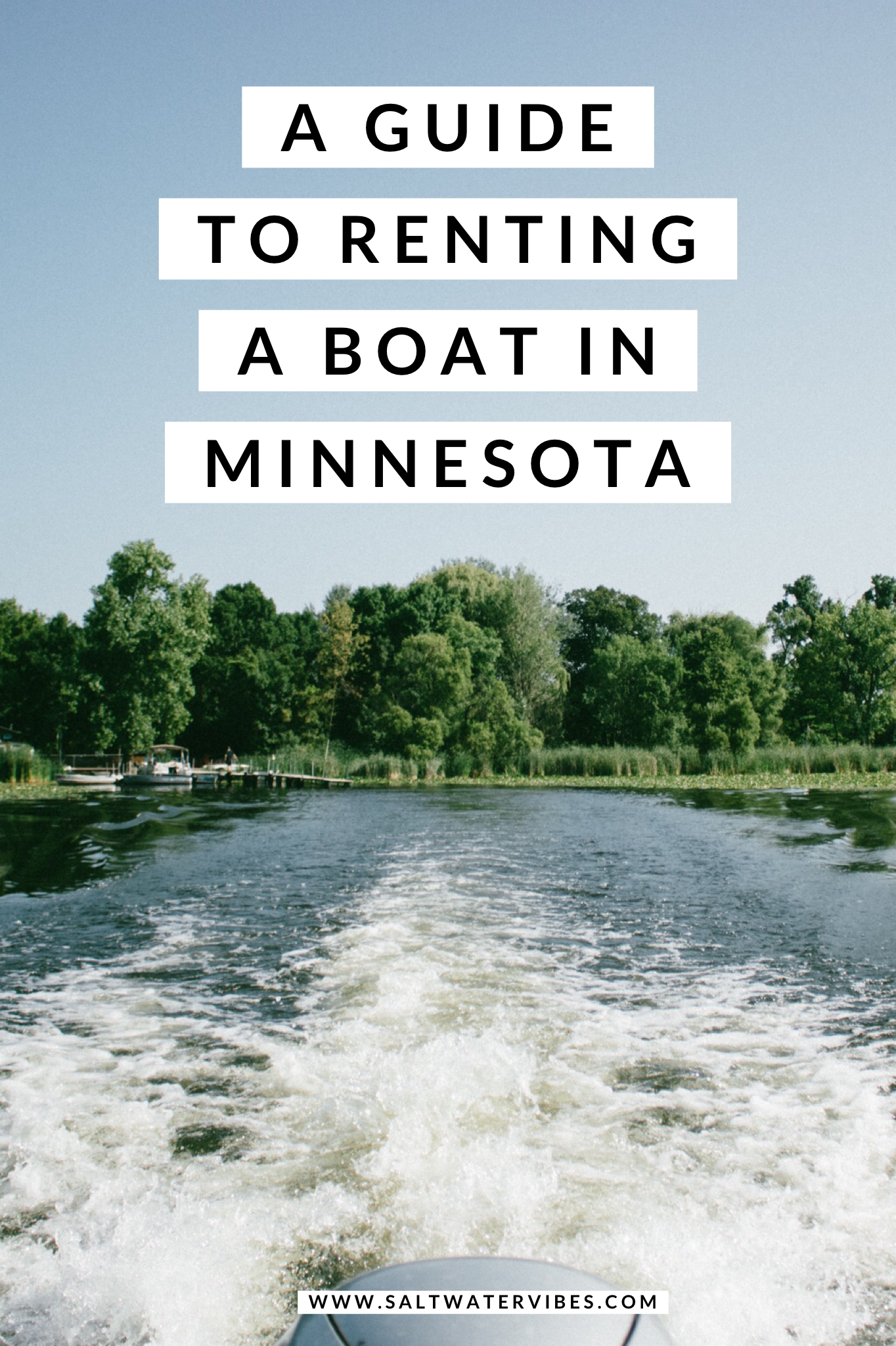 Boating With Bald Eagle Boat Rental Minnesota | SaltWaterVibes