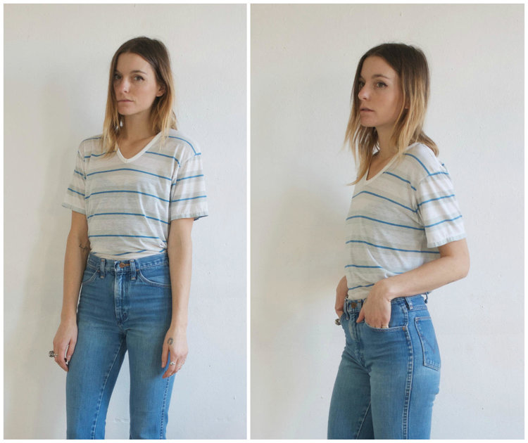 V Neck 90s Vintage Tee from  Tumbling Dice Vintage