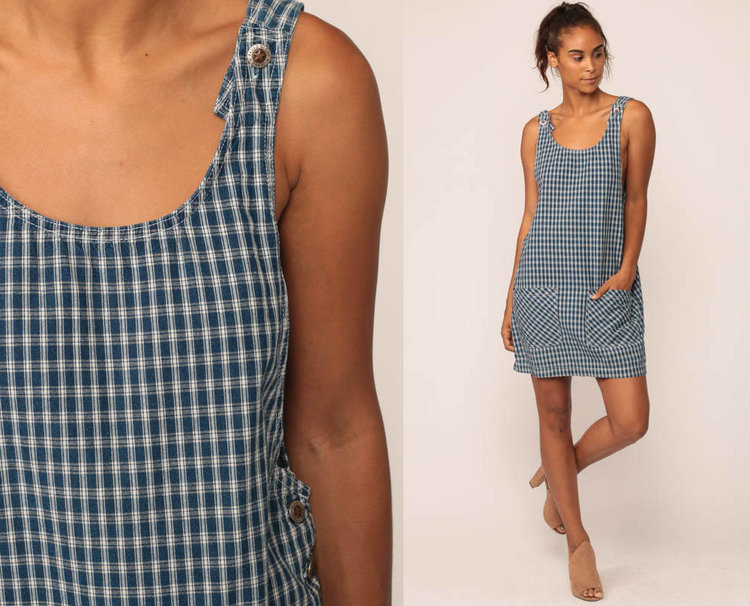 Plaid Overall Dress from  Shop Exile