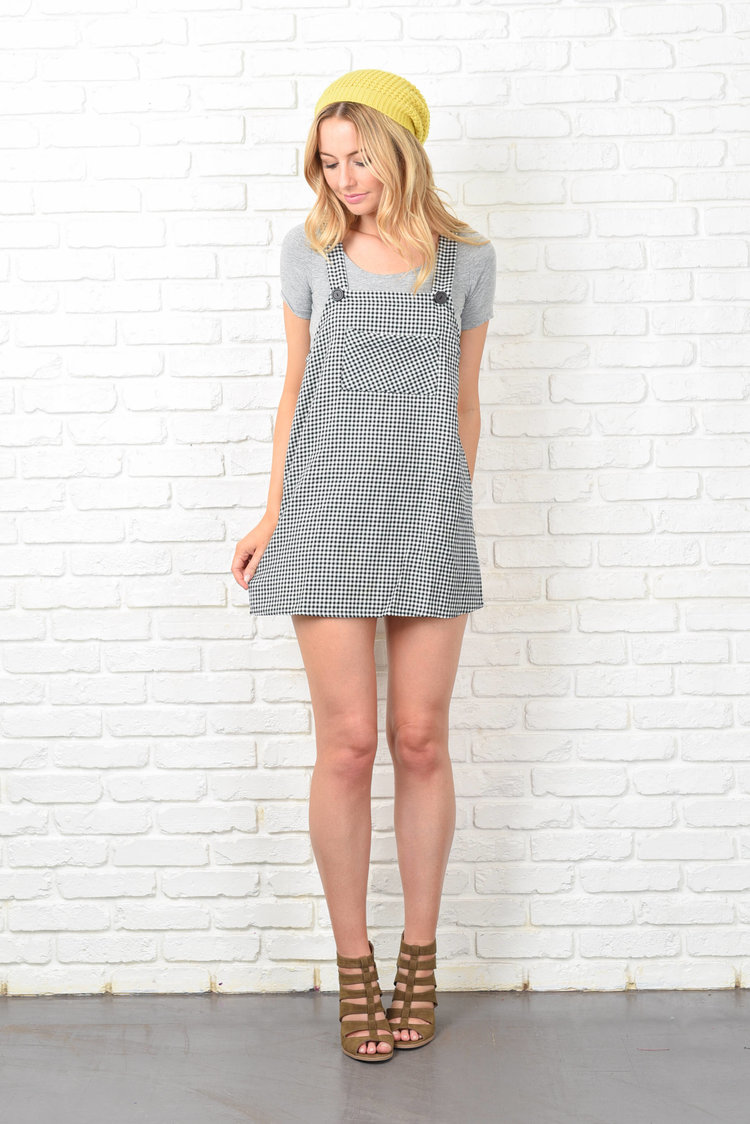 Cute Gingham Jumper Dress from  The Kissing Tree