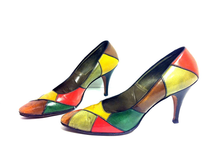 80s Colour Block Heels from  Melissa Joy Vintage