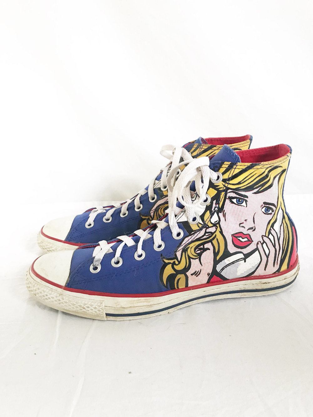 Roy Lichenstein Pop Art High Top Sneakers from  Time Bomb Vintage