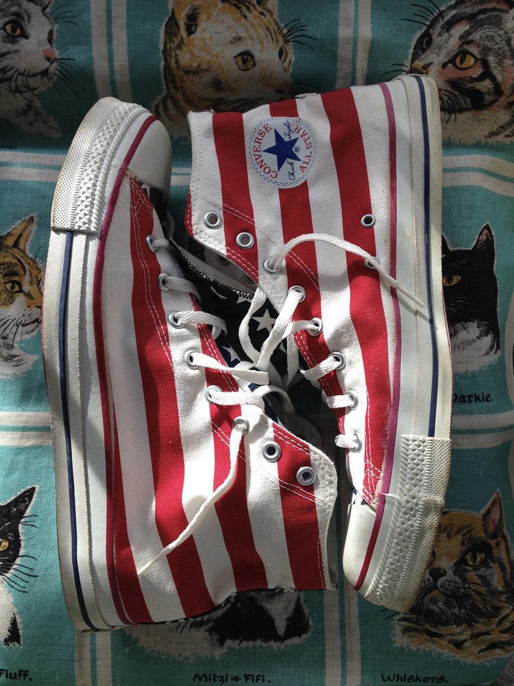 American Flag Converse Hi Tops from Lorrel Mae