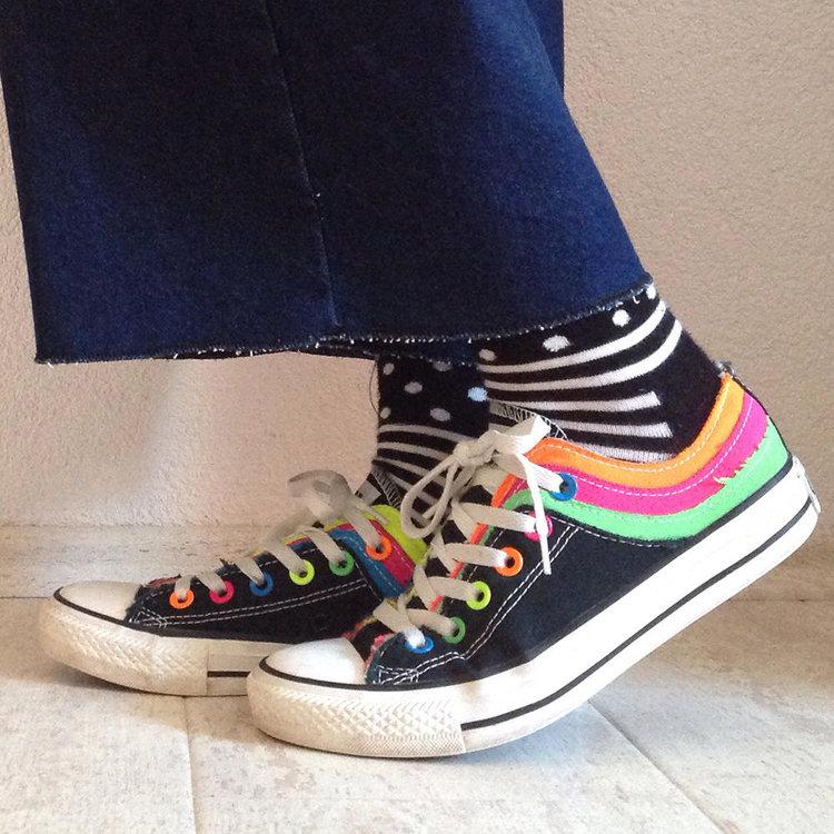 Rare Colourblock Converse Sneakers from  Smize Vintage