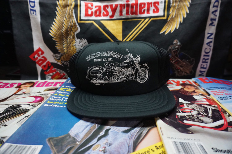 80s Harley Davidson Snapback Trucker Hat from Life Cycles CC