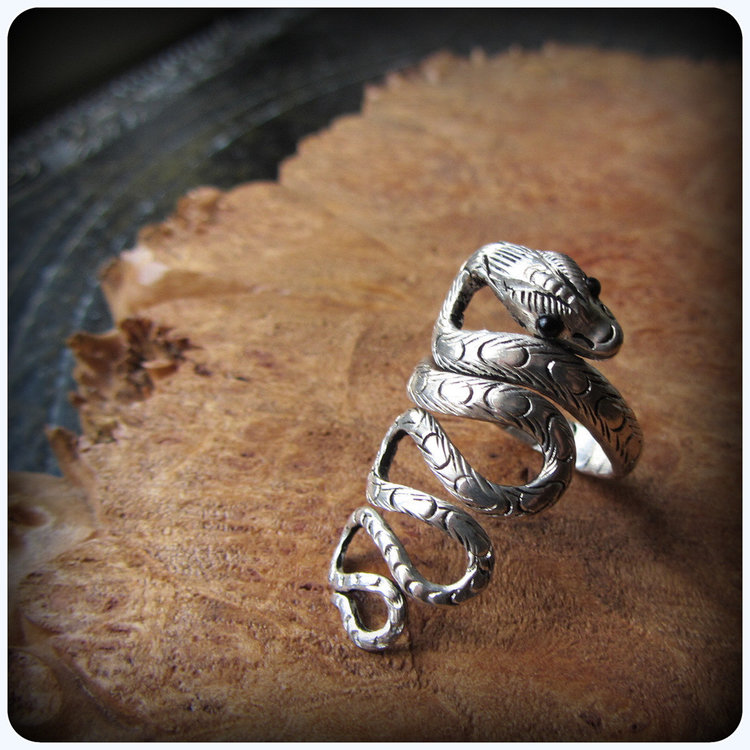 Silver Snake Ring from  Silver Gypsy Moon