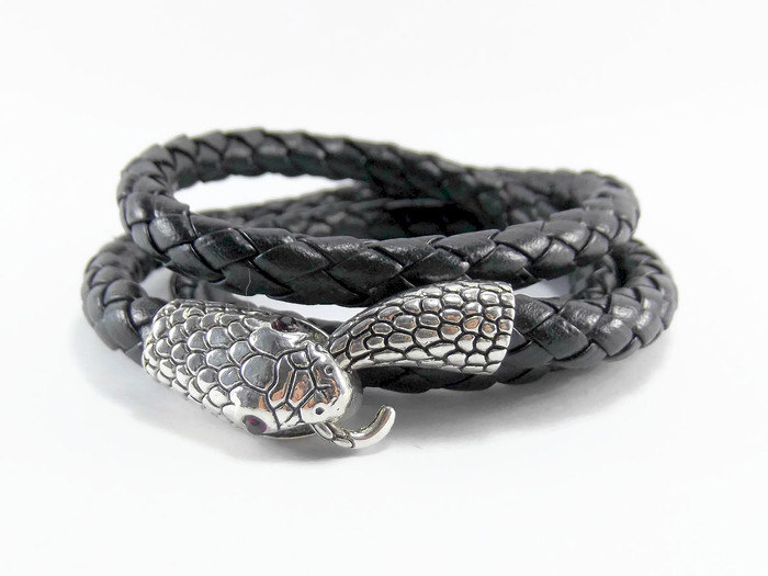 Leather Wrap Snake Bracelet from  Be Beautiful Designs