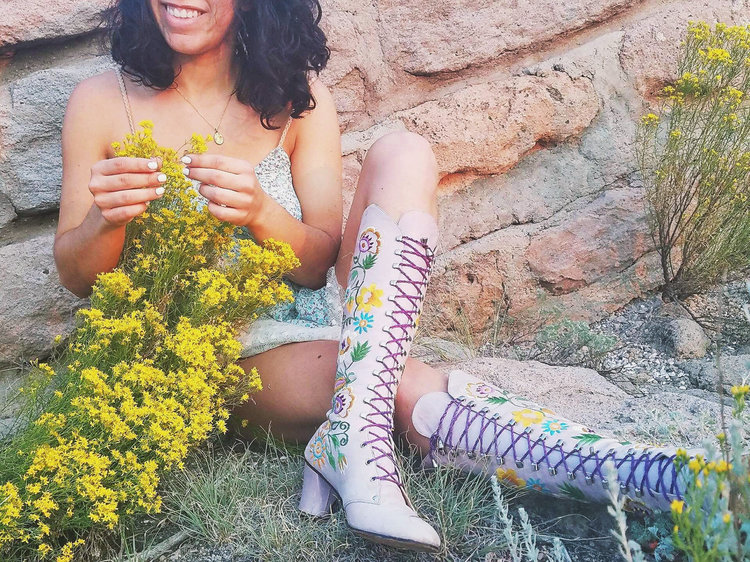 Embroidered Penny Lane Boots from  Soul Six Nine