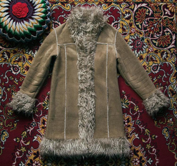 Shaggy Vegan Faux Fur Coat from  Fantasia Superstar