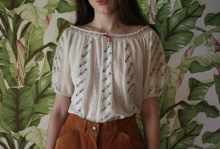 Hungarian Embroidered Blouse from  Closet Case VNTG