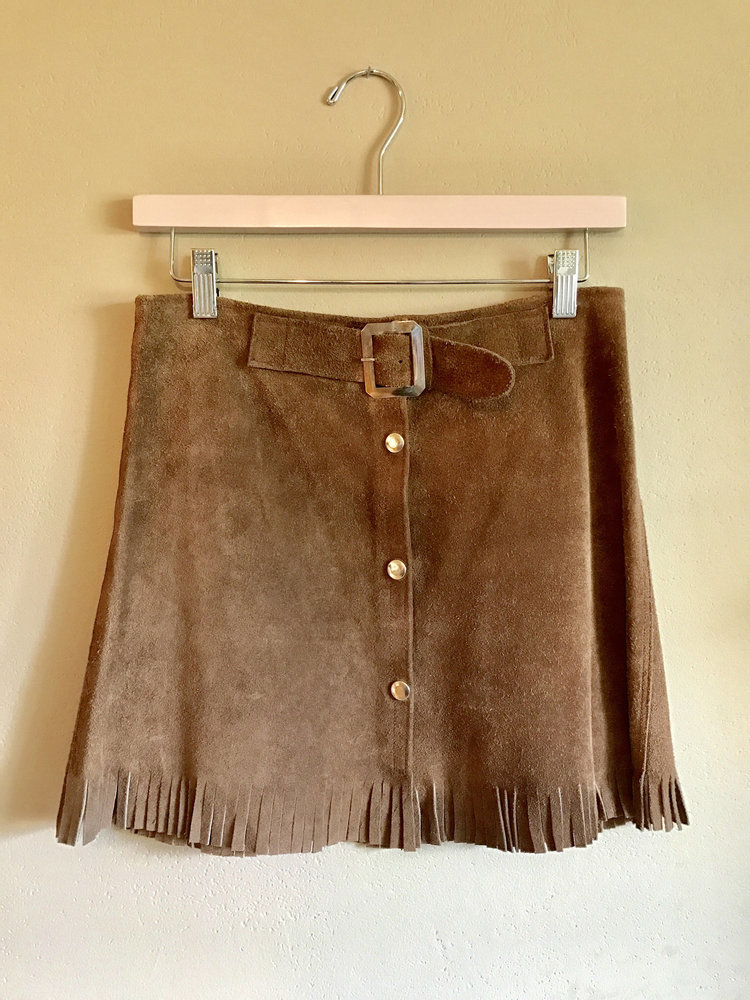 70s Brown Suede Skirt from  Magnolia Family Goods