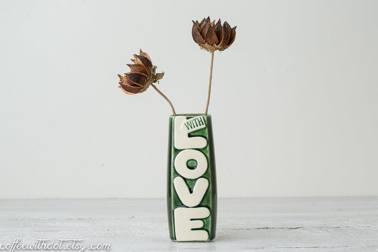 Vintage LOVE Vase from  Coffee with Dot