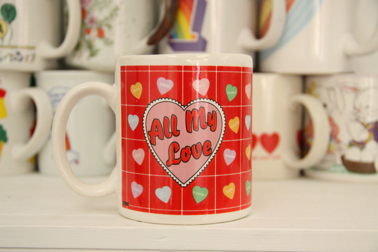 All My Love Vintage Mug from  The Cute Hunter
