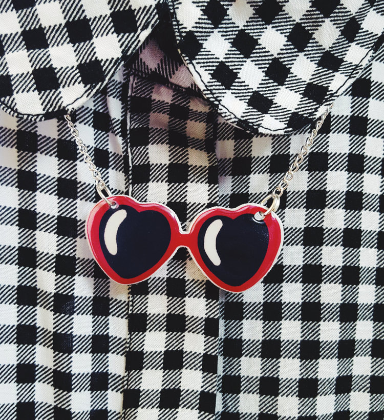 Lolita Sunglasses Necklace from  Sayanara Baby
