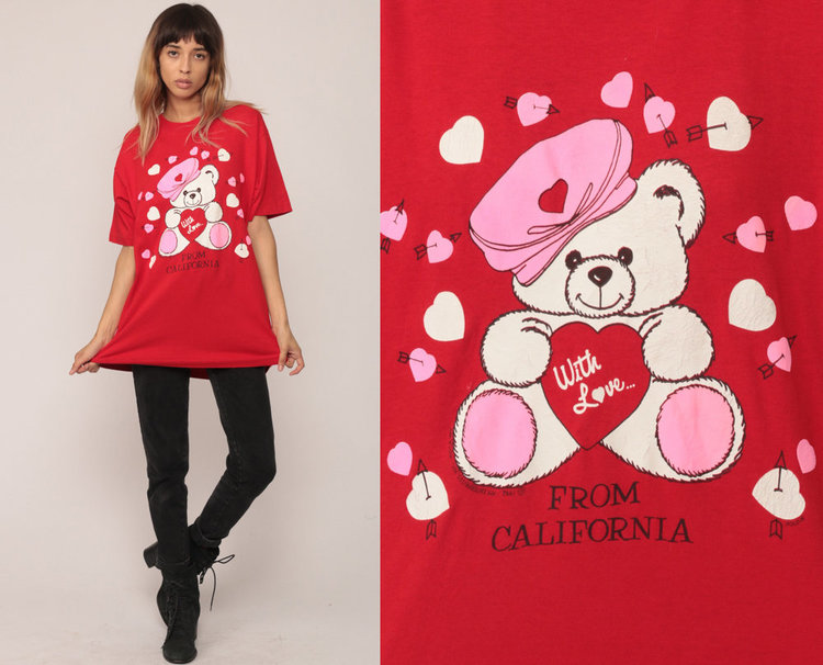 Teddy Bear with Love Tshirt from Shop Exile