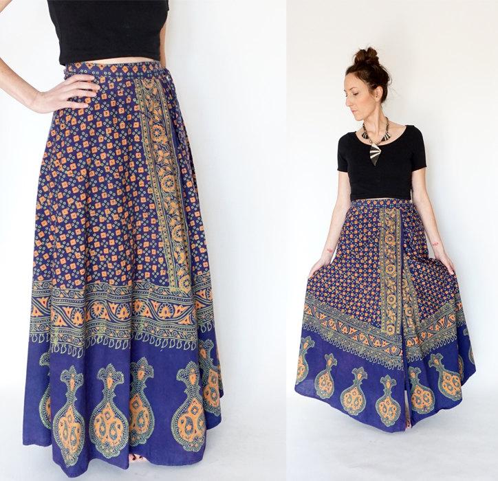 Boho Wrap Skirt from Gem and Arrow Vtg