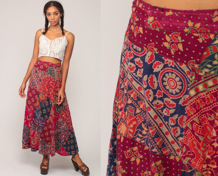 Patchwork Wrap Skirt from  Shop Exile