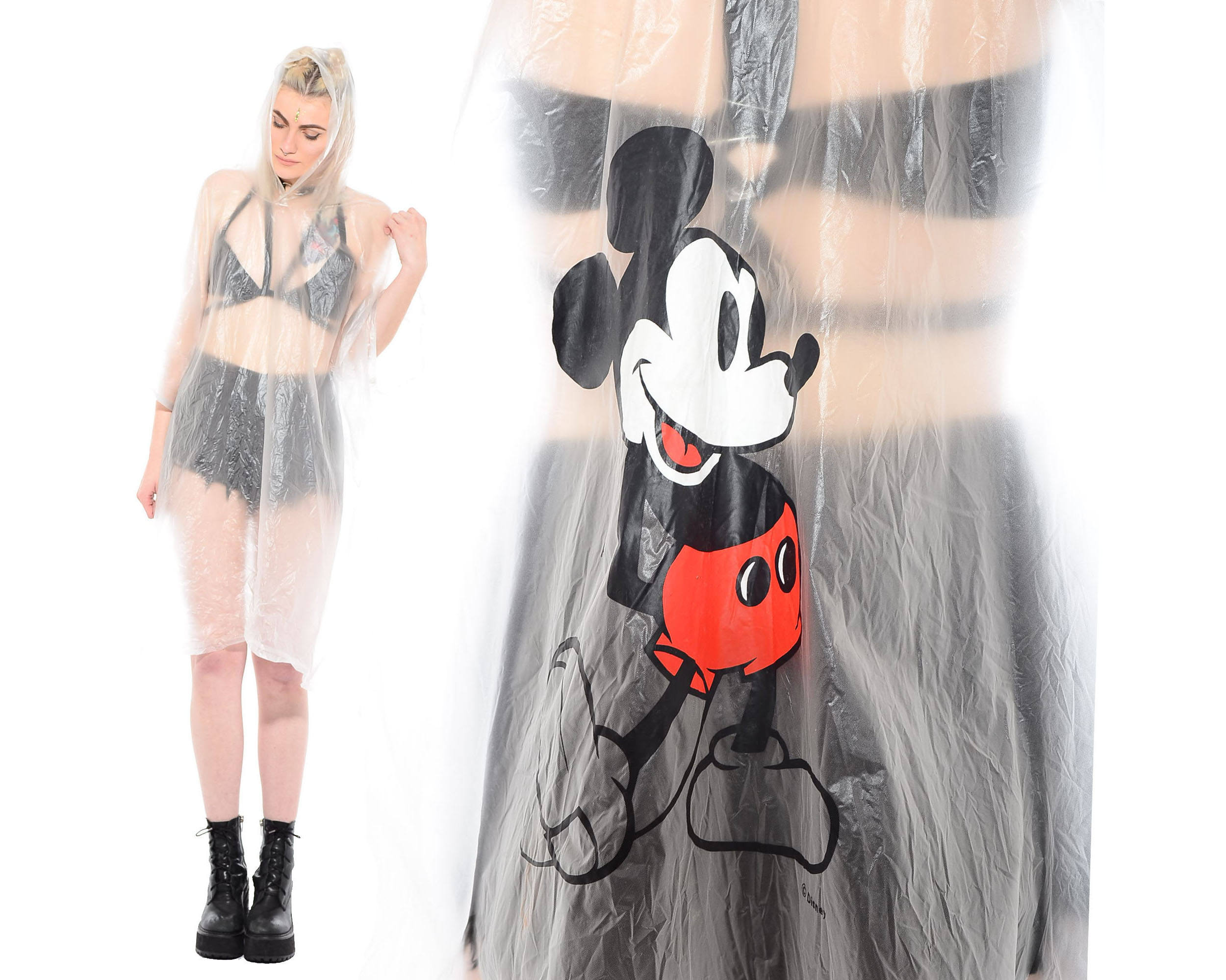 Cute Mickey Mouse Raincoat from Electric Skinny