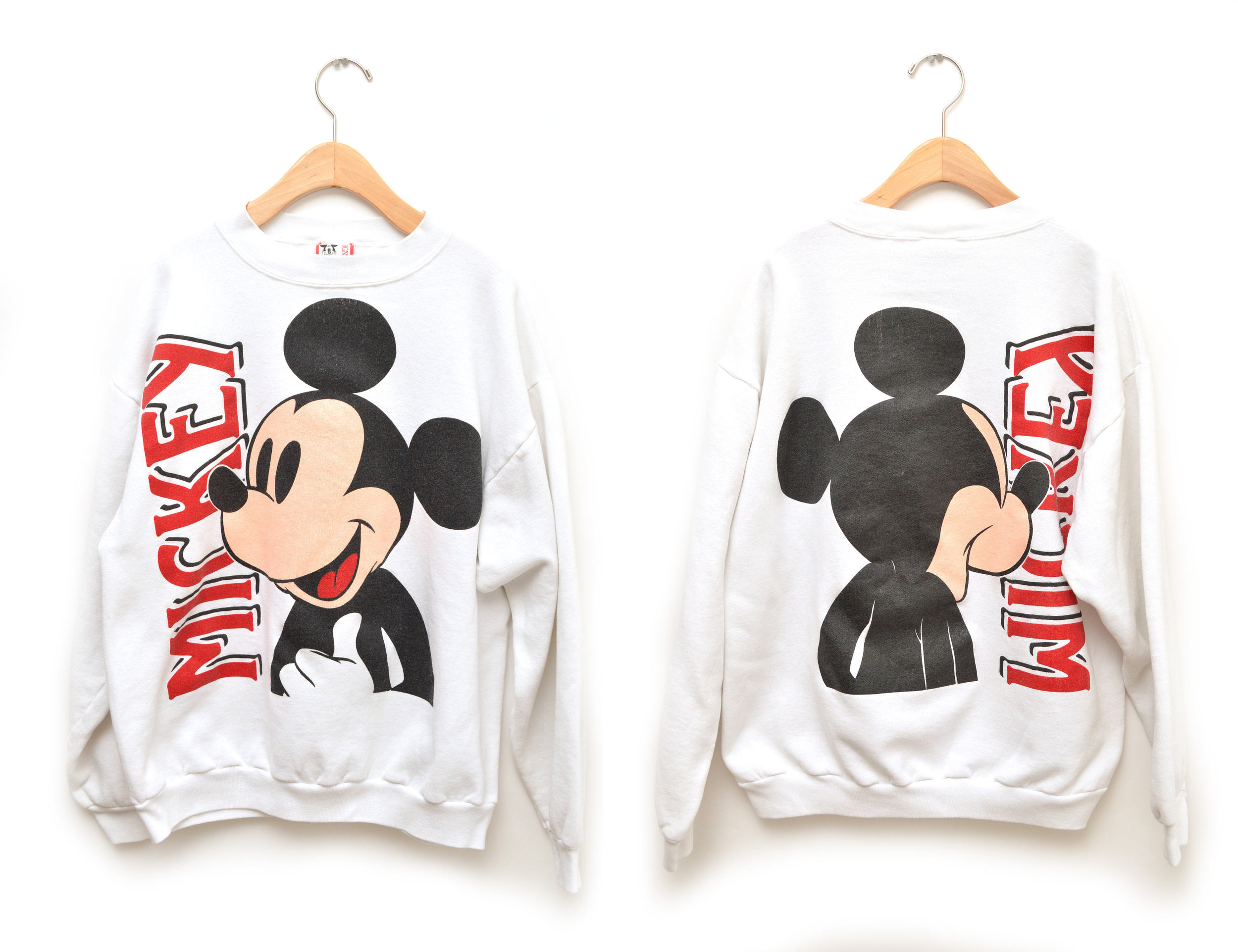 80s Vintage Two Sided Print Mickey Mouse Sweatshirt