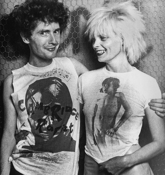 Tshirts designed by Malcolm and Vivienne using themes to shock and pornographic images.