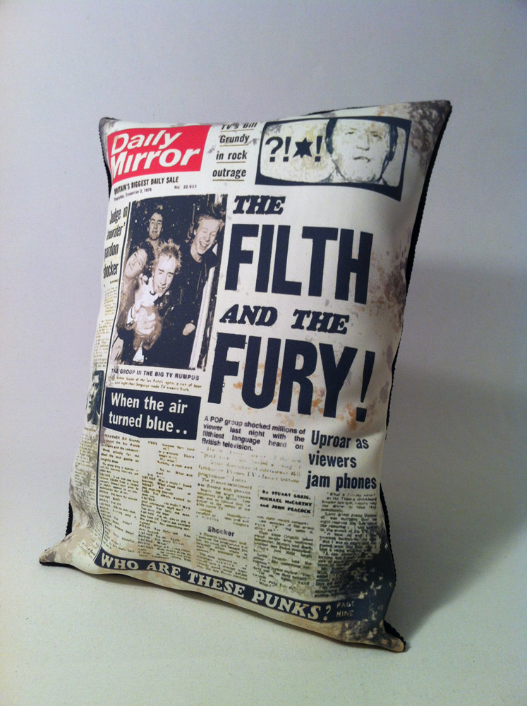 The Filth and the Fury Handmade Cushion by Mod Mod Designs
