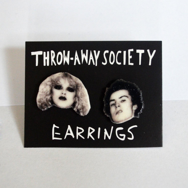 Sid and Nancy Earrings from Throw Away Society