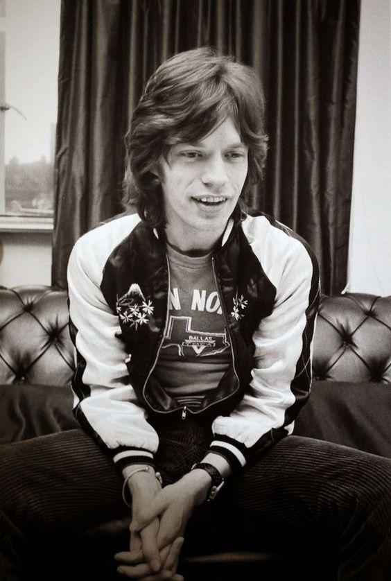 Mick Jagger wearing a Sukajan