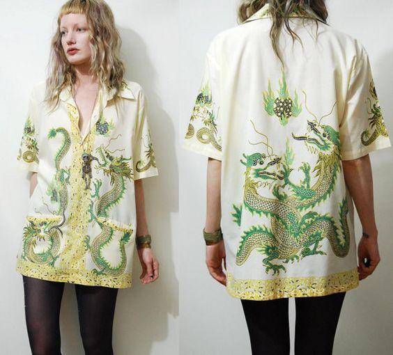 Batik Dragon Shirt from Crux and Crow