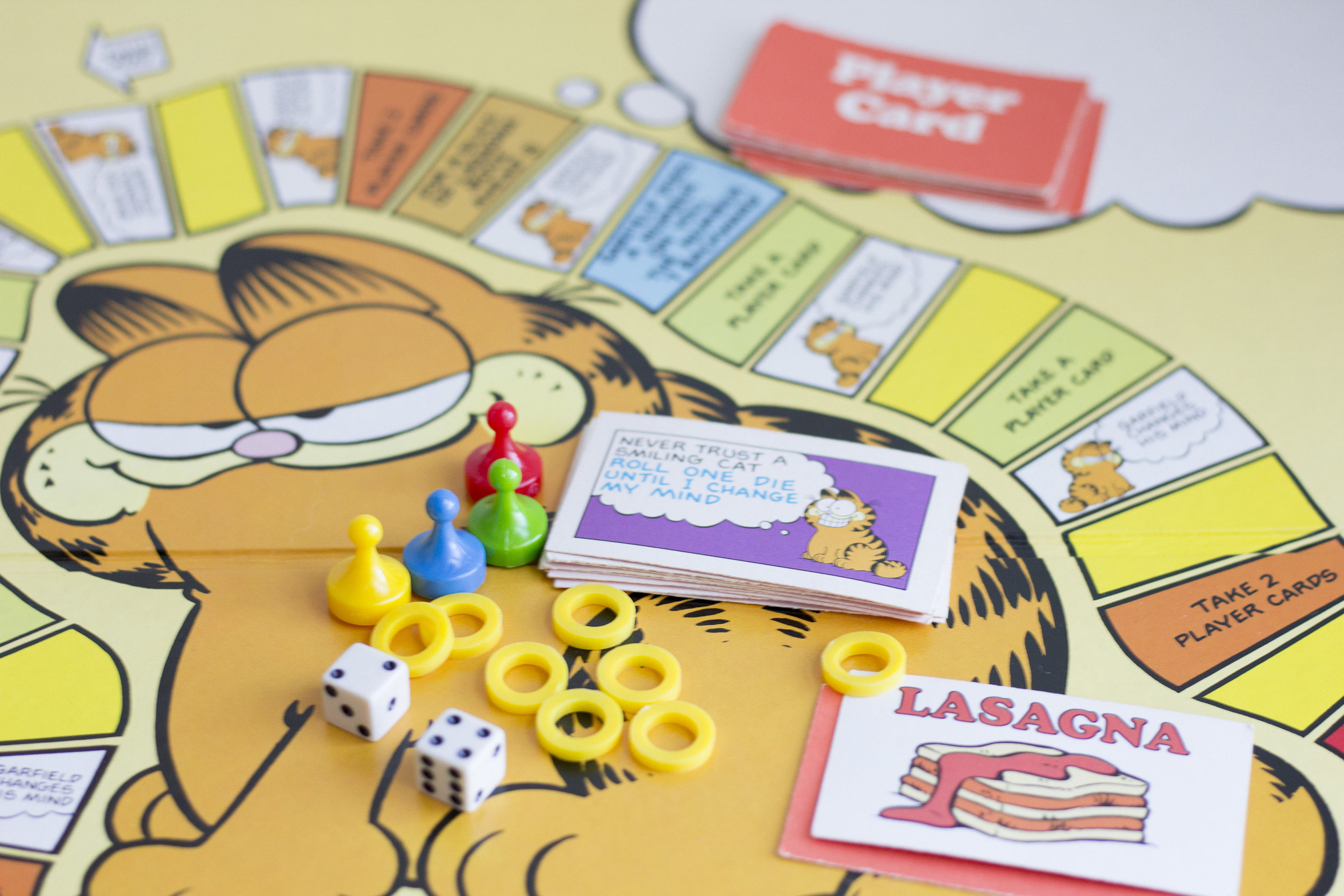 1981 Garfield Board Game from  Mollys Finds