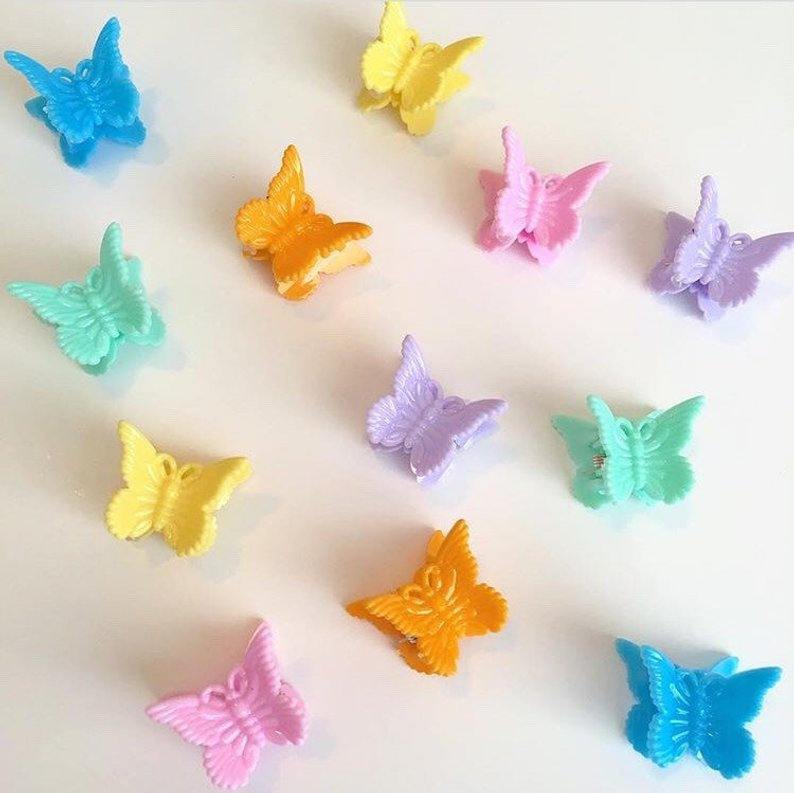 Colourful  Butterfly Clips