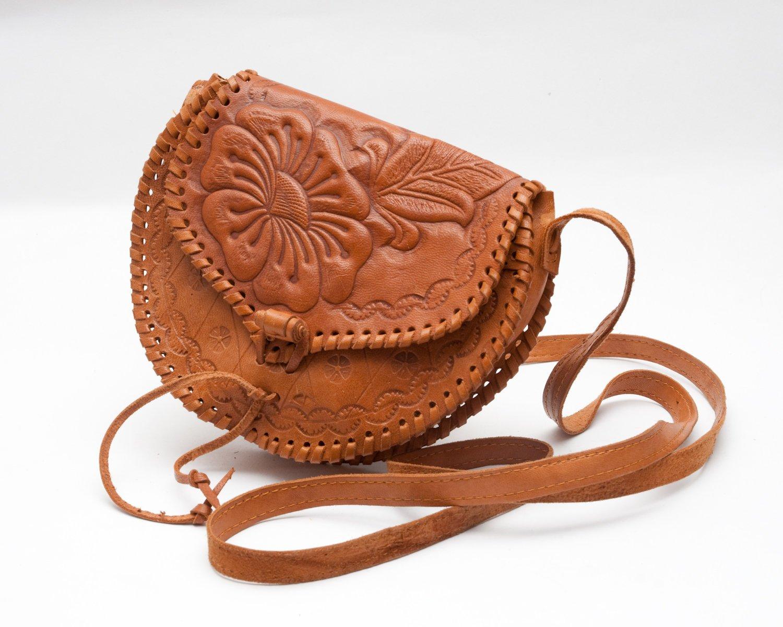 Cutest mini  tooled leather purse