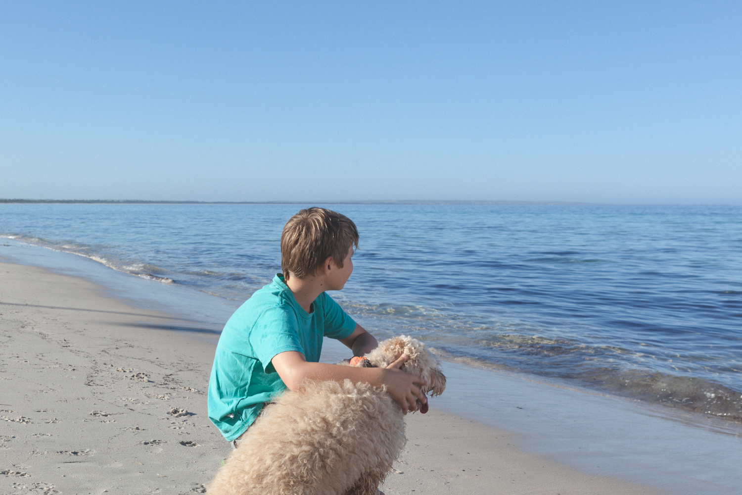 My beautiful brother Braeden, with our dog Torney.
