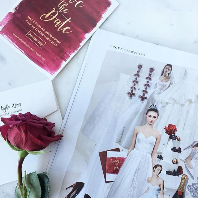 Still on a high from seeing my design in @voguebridesaustralia thanks to a collab with @paperlust.co 😆😍 #voguebridesaustralia #weddingdesign #weddings2018 #stationarydesign