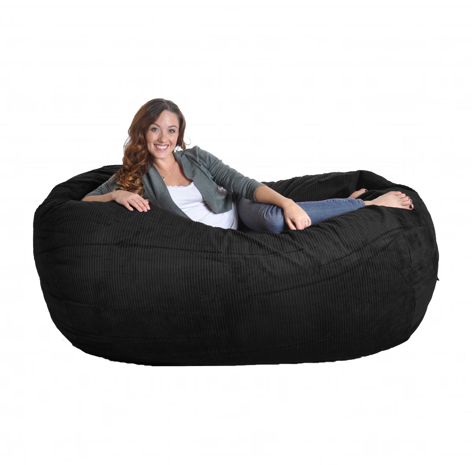 Slacker Sack Sofa Beanbag Black Corduroy
