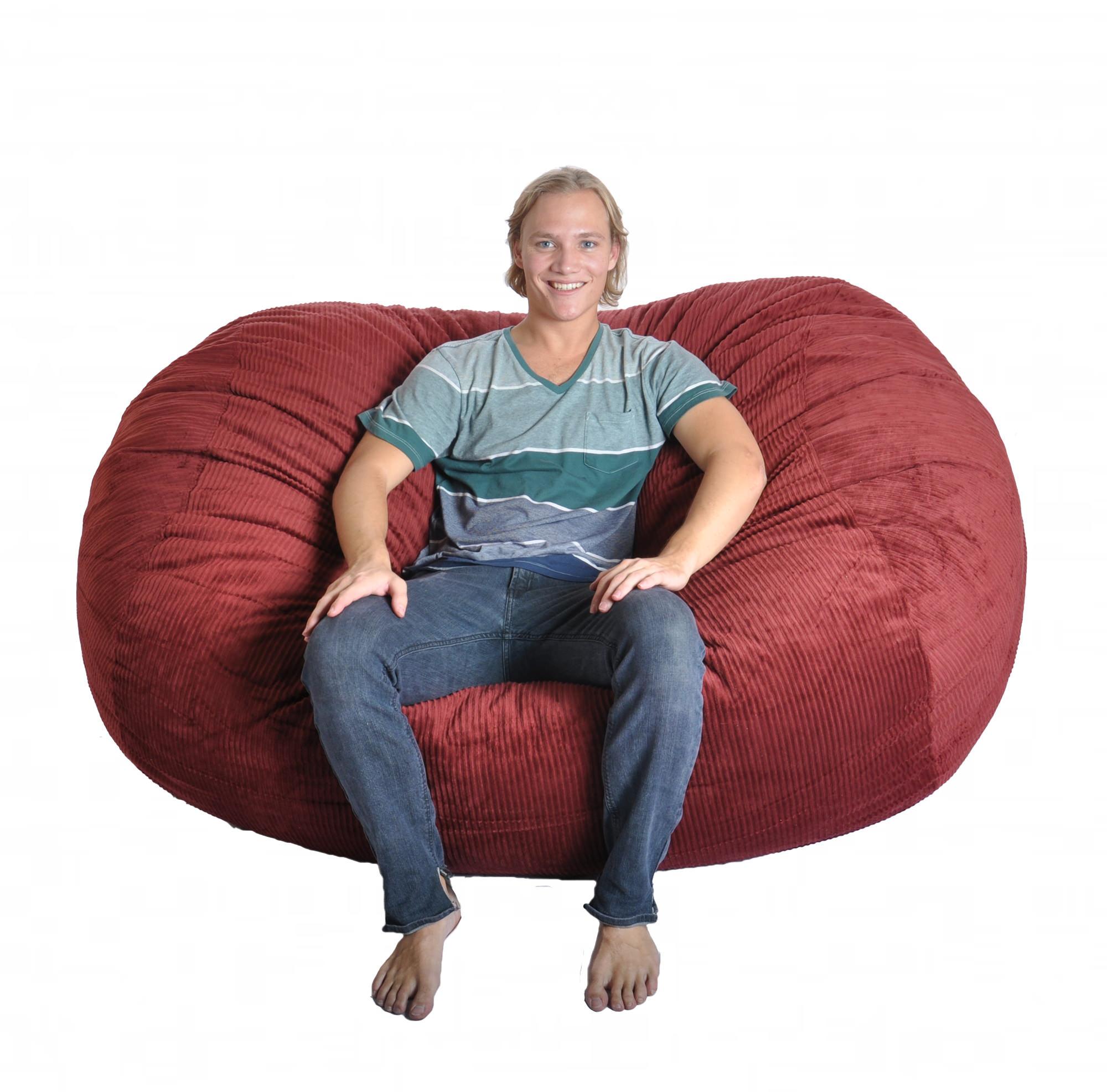 Sofa Beanbag Bergundy Corduroy