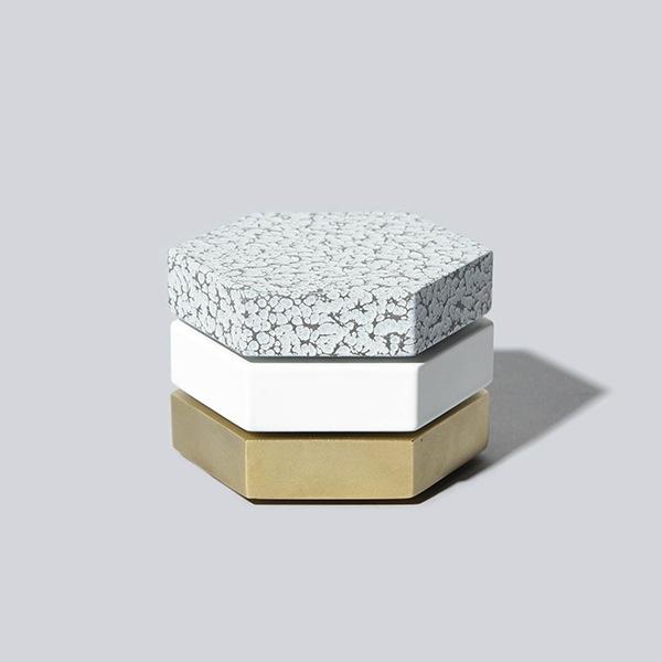 Lacoli & McAllister hexagon brass white