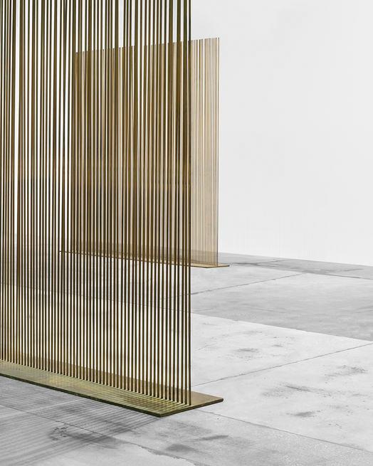 Harry Bertoia brass lines dividers art