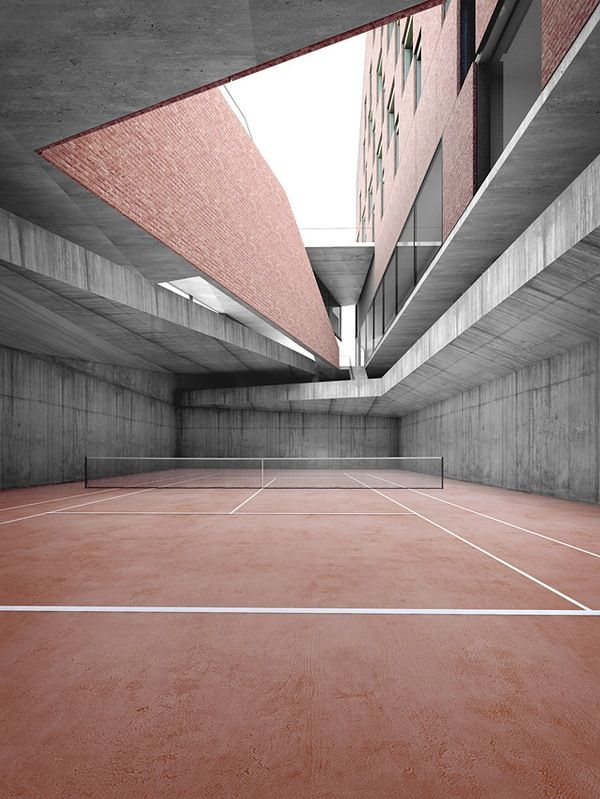 Unknown Pink tennis court