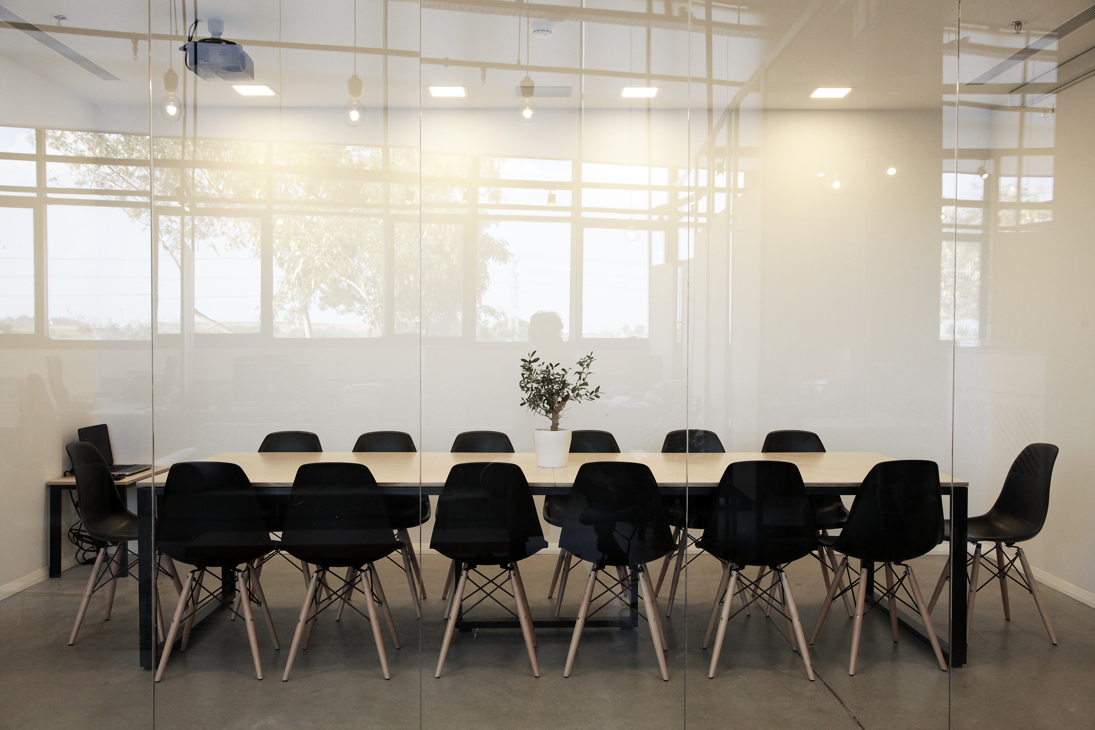 Office meeting room. Eames chairs