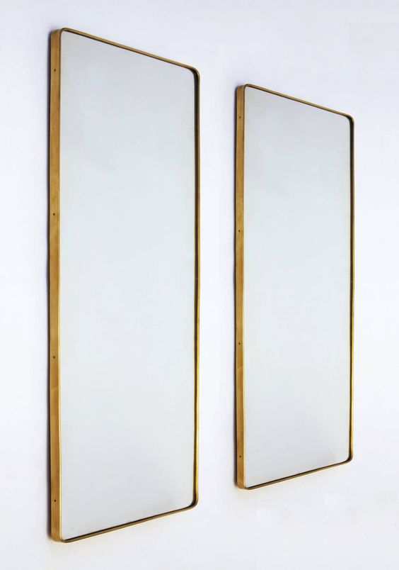 Gio Ponti Brass framed mirrors