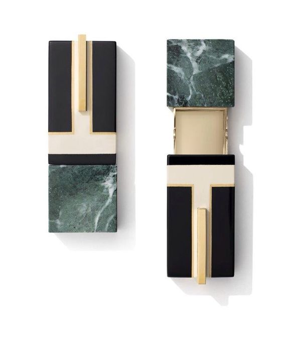 Dimore studio boxes in marble and brass at La DoubleJ